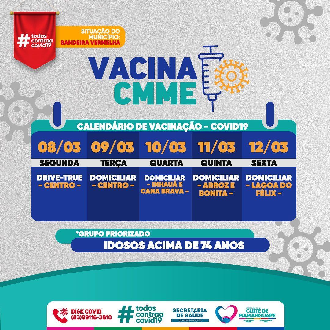 Calendário de Vacinação – Covid19